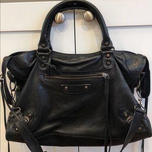 Balenciaga Black Leather City Bag